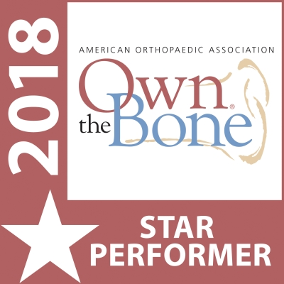 Own the Bone 2018 Star Performer badge